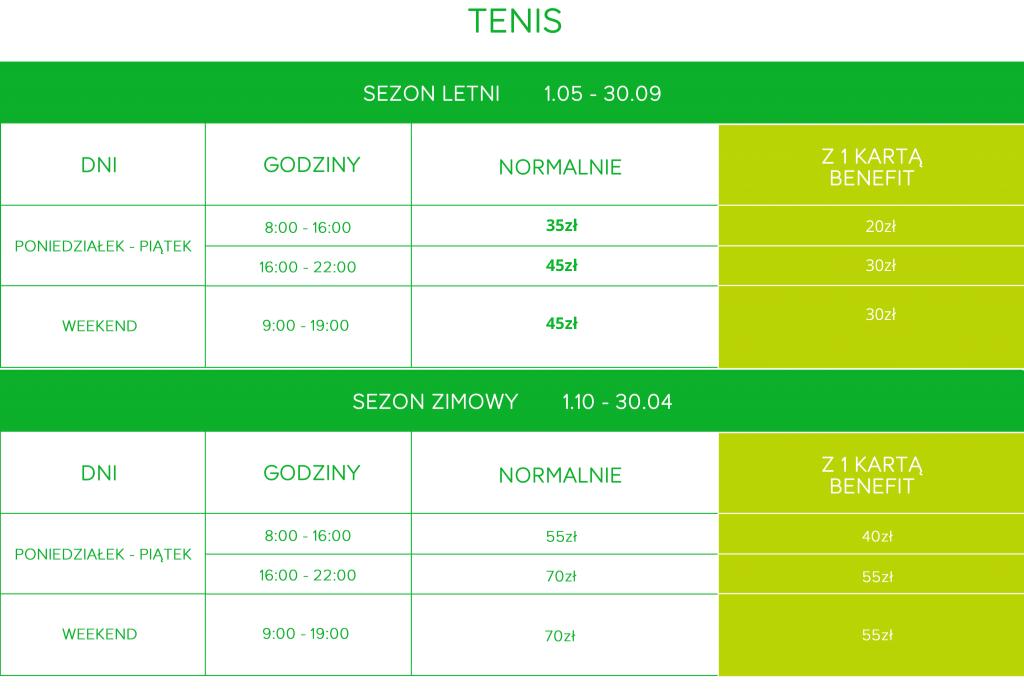 cennik tenis legionowo speltrum sportu